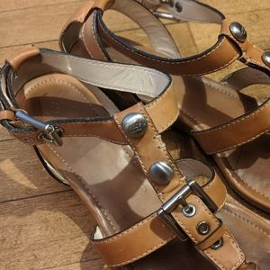 Coach Victoria Vendetta leather sandal